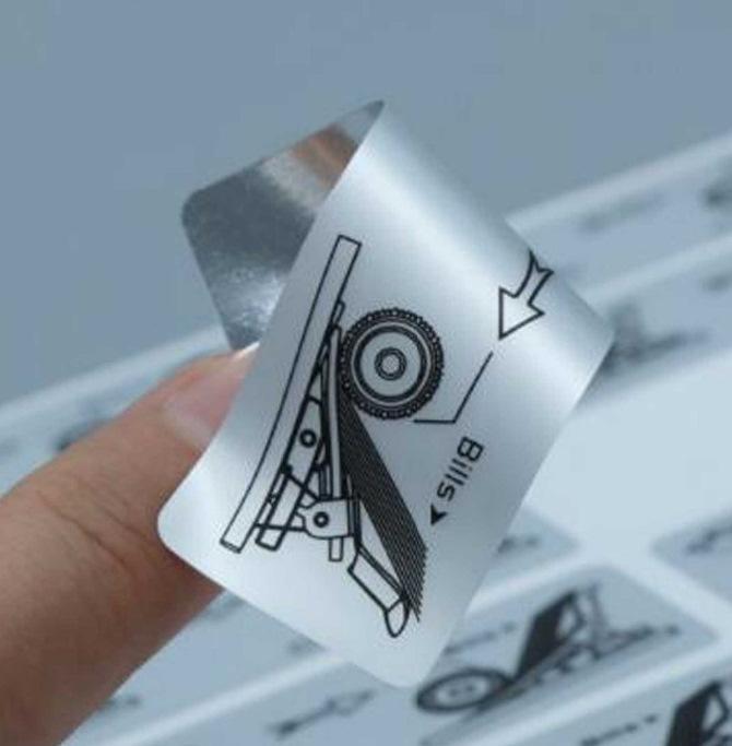 наклейка металлизированная